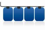 Tankreinigung für Batterietanks aus Kunstoff