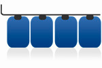 Tankreinigung für Batterietanks aus Kunststoff
