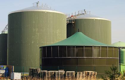 Sandstrahlen von Biogasanlagen